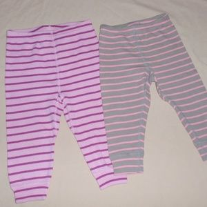 2 Hanna Andersson Striped Loose Fit Leggings 80